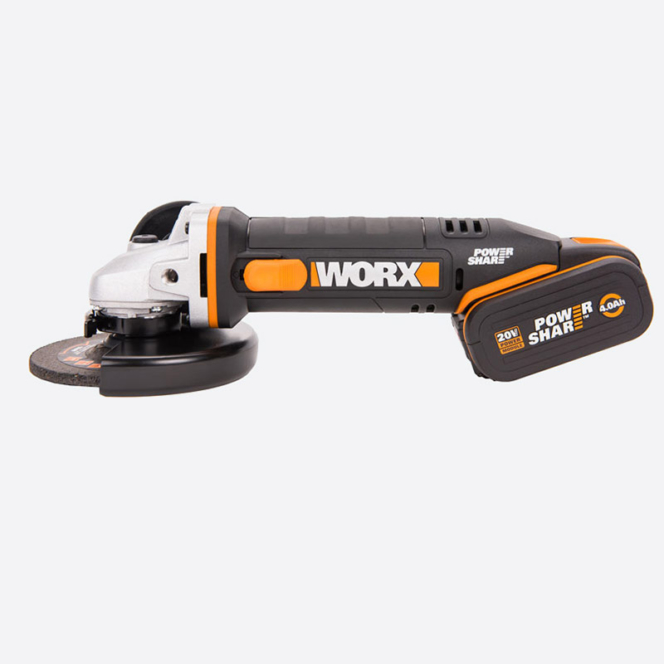Угловая шлифмашина аккумуляторная WORX WX803